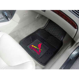 "MLB - St. Louis Cardinals - Heavy Duty Vinyl 2 Piece Car Mat Set 17""W x 27""L - 8781"