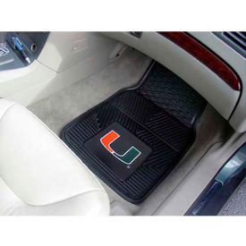 "University of Miami - Heavy Duty Vinyl 2 Piece Car Mat Set 17""W x 27""L - 8783"