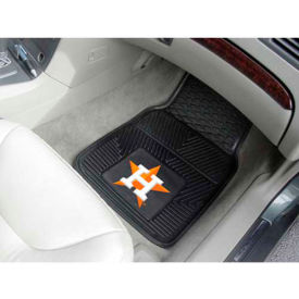 "MLB - Houston Astros - Heavy Duty Vinyl 2 Piece Car Mat Set 17""W x 27""L - 8839"