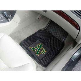 """MLB - Oakland Athletics - Heavy Duty Vinyl 2 Piece Car Mat Set 17""""W x 27""""L - 8844"""