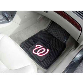 "MLB - Washington Nationals - Heavy Duty Vinyl 2 Piece Car Mat Set 17""W x 27""L - 8852"