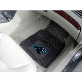 "NFL - Carolina Panthers - Heavy Duty Vinyl 2 Piece Car Mat Set 17""W x 27""L - 8889"