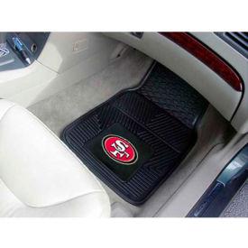 """NFL - San Francisco 49ers - Heavy Duty Vinyl 2 Piece Car Mat Set 17""""W x 27""""L - 8902"""
