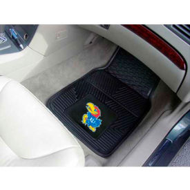 "University of Kansas - Heavy Duty Vinyl 2 Piece Car Mat Set 17""W x 27""L - 8914"