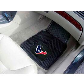 """NFL - Houston Texans - Heavy Duty Vinyl 2 Piece Car Mat Set 17""""W x 27""""L - 8993"""