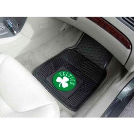 """NBA - Boston Celtics - Heavy Duty Vinyl 2 Piece Car Mat Set 17""""W x 27""""L - 9209"""