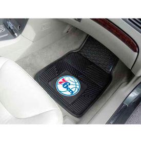 """NBA - Philadelphia 76ers - Heavy Duty Vinyl 2 Piece Car Mat Set 17""""W x 27""""L - 9374"""