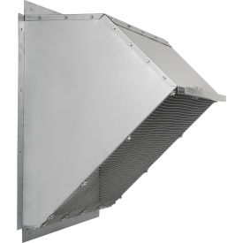 """Fantech 42"""" Weather Hood 1ACC42WH, For Exhaust/Supply Fans, Galvanized Steel"""