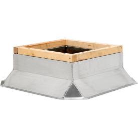 """Fantech Fixed Non-Ventilated Curb 5ACC19FS, 19"""" Square x 8""""H, Galvanized Steel"""
