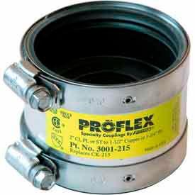 """2"""" Cast Iron/Pvc/Steel X 1-1/2"""" Copper Proflex Coupling"""