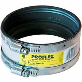 "4"" Pvc/Steel/Xhci X 4"" Pvc/Steel/Xhci Proflex Coupling - Pkg Qty 24"