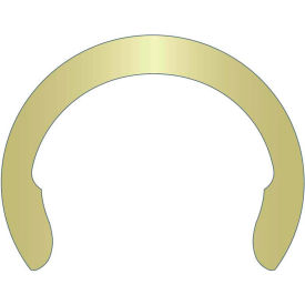 """1/2"""" External Crescent Ring - Stamped - Spring Steel - Zinc Yellow - USA - Pkg of 500"""