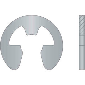 """External E-Clip - 1/2"""" Shaft Dia. - 15-7 Stainless Steel - Passivated - Stamped - USA - Pkg of 125"""