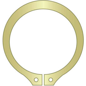 "3/4"" External Snap Ring - Standard Duty - Stamped - Spring Steel - Zinc Yellow - USA - Pkg of 250"