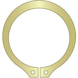 "3"" External Snap Ring - Standard Duty - Stamped - Spring Steel - Zinc Yellow - USA - Pkg of 17"
