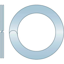 "Split Ring - 1.480"" O.D. x 1.264"" I.D. x .108"" Thick - Spring Steel - Zinc Clear - USA - Pkg of 80"