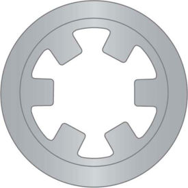 "3/16"" Reinforced External Push-On Ring - .010 Thick - Stamped - Stainless Steel - USA - Pkg of 70"