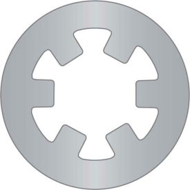 """3/16"""" External Push-On Ring - Stamped - Stainless Steel - USA - Pkg of 60"""