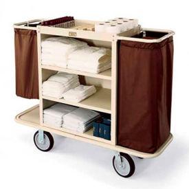 Forbes Steel Housekeeping Cart, Beige - 2104-BE