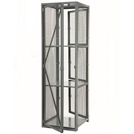 "Stor-More® Dispatcher Locker 4 Tier Front Door & Full Height Rear Panel 36""W x 24""D x 79-1/2""H"