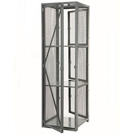 """Stor-More® Dispatcher Locker 4 Tier Front Door & Full Height Rear Panel 36""""W x 36""""D x 79-1/2""""H"""