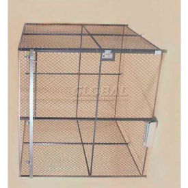 Wov-N-Wire™ Wire Mesh Pre-Designed, 4 Sided Room Kit, 10'W X 10'D X 10'H, W/Slide Door