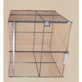 Wov-N-Wire™ Wire Mesh Pre-Designed, 4 Sided Room Kit, 10'W X 10'D X 10'H, W/Slide Door