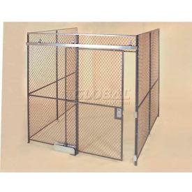 Wov-N-Wire™ Wire Mesh Pre-Designed, 3 Sided Room Kit, 10'W X 10'D X 8'H, W/Slide Door