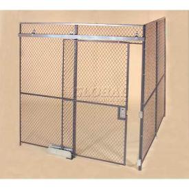 Wov-N-Wire™ Wire Mesh Pre-Designed, 2 Sided Room Kit, 30'W X 20'D X 10'H, W/Slide Door