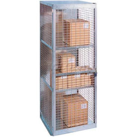 """Stor-More® Loss Prevention Security Cabinet/Locker 48""""W X 18""""D X 96""""H W/Hinged Single Door"""