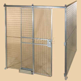 Qwik-Fence® Wire Mesh Pre-Designed, 2 Sided Room Kit, W/O Roof 12'W X 8'D X 12'H, W/Slide Door