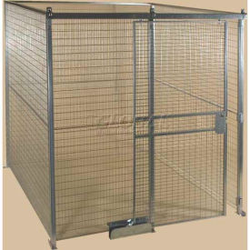 Qwik-Fence® Wire Mesh Pre-Designed, 4 Sided Room Kit, W/O Roof 12'W X 8'D X 8'H, W/Slide Door