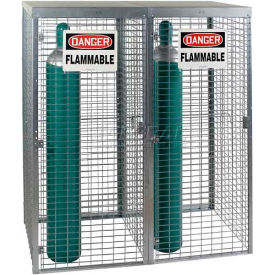 """Saf-T-Stor™ Cylinder Cabinet 58""""W X 29""""D X 66""""H, Capacity 18 Vertical, Galvanized"""