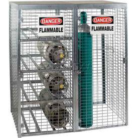 """Saf-T-Stor™ Cylinder Cabinet 58""""W X 29""""D X 66""""H, Capacity 8 Horizontal 9 Vertical, Galvanized"""