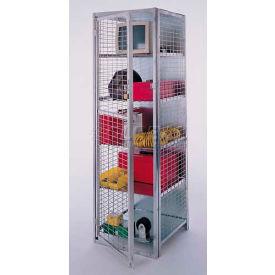 "Stor-More® Visibility Locker 18""W X 18""D X 72""H W/4 Adjustable Shelves & Top/Bottom"