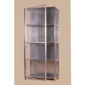 "Stor-More® Visibility Locker 36""W X 24""D X 80""H W/3 Adjustable Shelves & Top/Bottom"
