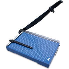 "United Office-Grade Guillotine Paper Trimmer - 15"" Cutting Length - 15 Sheet Capacity - Blue"