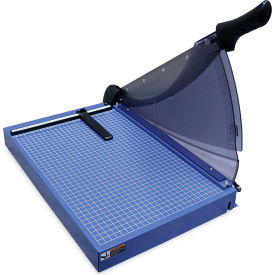 """United Professional-Grade Guillotine Paper Trimmer - 18"""" Cutting Length - 40 Sheet Capacity - Blue"""