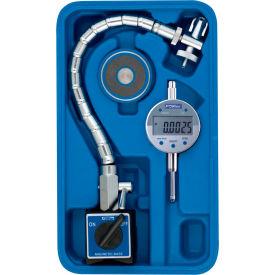 Fowler 54-585-100 Chrome Flex Mag and Indi-X Blue Electronic Indicator Set