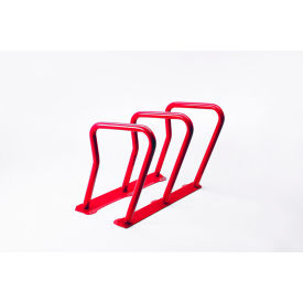 Surf 6 Bike Capacity Steel Bike Rack, Red