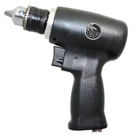 "Florida Pneumatic FP-3025, 1/4"" Pistol Air Drill, 0.33 HP, 20000 RPM, 4 CFM, 60-90 PSI"
