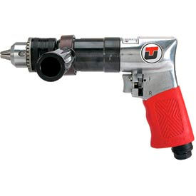 "Universal Tool UT2855R, 1/2"" Pistol Air Drill, 0.5 HP, 450 RPM, 3.5 CFM, Reversible, 90 PSI"