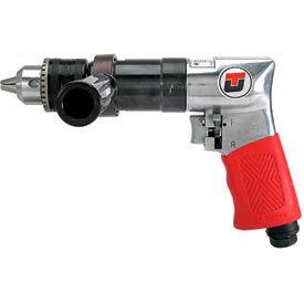 """Universal Tool UT2855R, 1/2"""" Pistol Air Drill, 0.5 HP, 450 RPM, 3.5 CFM, Reversible, 90 PSI"""