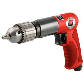 "Universal Tool UT8840R-1, 1/2"" Pistol Air Drill, 0.65 HP, 800 RPM, 3.5 CFM, Reversible, 90 PSI"