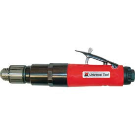 "Universal Tool UT8893-60S, 1/4"" Straight Air Drill, 0.9 HP, 6000 RPM, 1.9 CFM, 90 PSI"