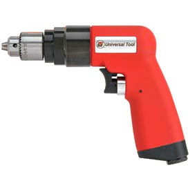 "Universal Tool UT8894, 1/4"" Pistol Air Drill, 0.9 HP, 6000 RPM, 4.6 CFM, 90 PSI"