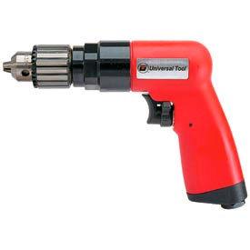 """Universal Tool UT8895R, 3/8"""" Pistol Air Drill, 0.8 HP, 1800 RPM, 4.6 CFM, Reversible, 90 PSI"""