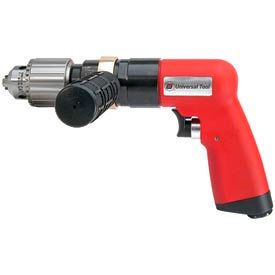 "Universal Tool UT8896, 1/2"" Pistol Air Drill, 0.9 HP, 500 RPM, 4.6 CFM, 90 PSI"