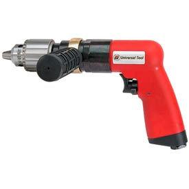 """Universal Tool UT8896R, 1/2"""" Pistol Air Drill, 0.8 HP, 400 RPM, 4.6 CFM, Reversible, 90 PSI"""