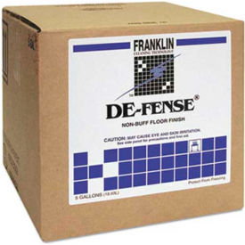 De-Fense® Non-Buff Floor Finish, 5 Gallon Cube - FKLF135025